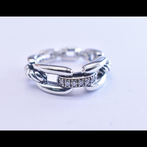 David Yurman chain ring in silver